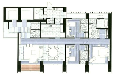The Met 3 br unit and floor plan D2