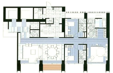 The Met 3 br unit and floor plan D3