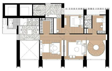 The Met 4 br unit and floor plan 4BR-E1 & E2 UF